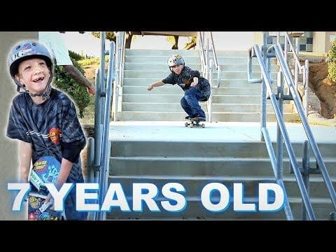 AMAZING 7 YEAR OLD SKATER - Luis Mora