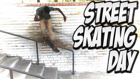 AMAZING SKATING IN THE STREETS !!! - A DAY WITH NKA - - Nka Vids Skateboarding