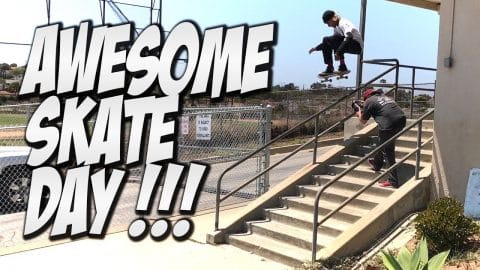 AMAZING SUMMER SKATE DAY !!! - A DAY WITH NKA - - Nka Vids Skateboarding