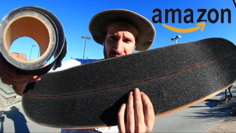 AMAZON FAKE ANTI-SLIP SAFTEY GRIPTAPE | CHEAP SKATES EP 11 - Braille Skateboarding