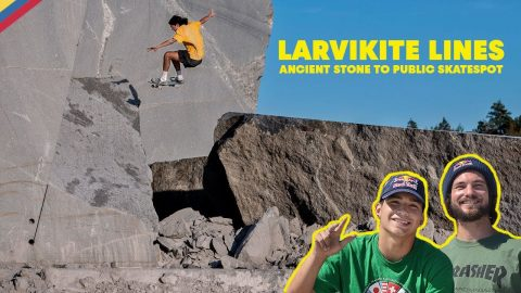 Ancient Stone to Public Skatespot with Torey Pudwill & Crew | LARVIKITE LINES | Red Bull Skateboarding