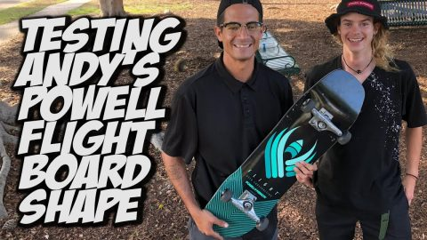 ANDY ANDERSON CUSTOM SHAPE BOARD SET UP AND SKATE TEST !!! - NKA VIDS - | Nka Vids Skateboarding