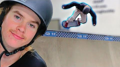 ANDY ANDERSON LEARNS A TRICK FROM OLYMPIAN NICOLE HAUSE | Braille Skateboarding