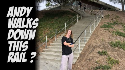 ANDY ANDERSON WALKS DOWN CRAZY RAIL & TONS OF SKATEBOARDING !!!   NKA VIDS | Nka Vids Skateboarding