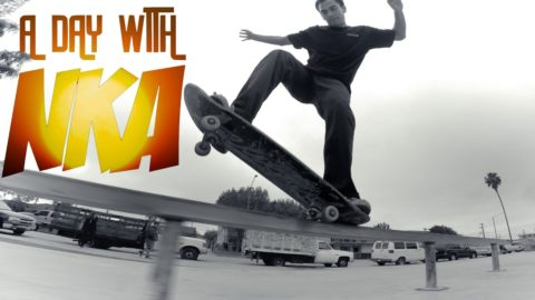 ANOTHER AWESOME SKATE DAY - A DAY WITH NKA - Nka Vids