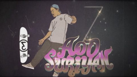 "Aod Suriyan's part, ""SuperMix"" (2018) Preduce Skateboards 