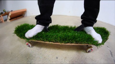 ARTIFICIAL GRASS BOARD WITH NO SHOES! | YOU MAKE IT WE SKATE IT EP 76 - Braille Skateboarding