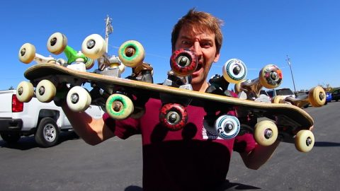 AS MANY TRUCKS AND WHEELS ON BOTH SIDES OF THE BOARD AS POSSIBLE! - Braille Skateboarding