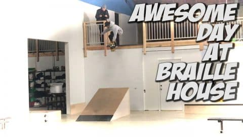 AWESOME FINAL DAYS AT BRAILLE SKATEBOARDING !!! - A DAY WITH NKA - - Nka Vids Skateboarding