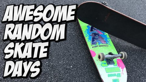 AWESOME RANDOM SKATE DAYS !!! - A DAY WITH NKA - - Nka Vids Skateboarding