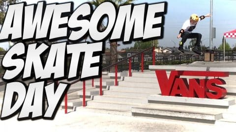 AWESOME SKATE DAY !!! - A DAY WITH NKA - - Nka Vids Skateboarding
