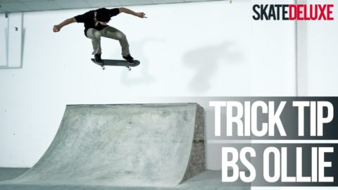 Backside Ollie in Ramp | Skateboard Trick Tip | Italiano/Italian | skatedeluxe - skatedeluxe