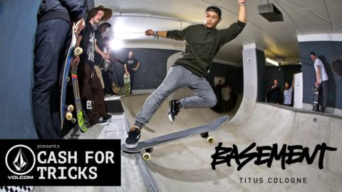 Basement Bowl Cash for Tricks supported by Volcom | Titus Köln - Titus