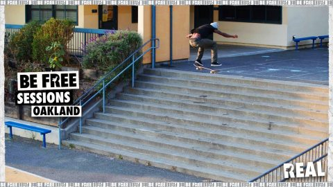 BE FREE Sessions : Oakland with Ishod Wair, Kyle Walker & Zion Wright | REAL Skateboards