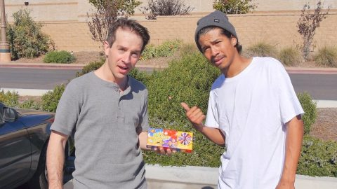 BEAN BOOZLED GAME OF SKATE WITH CRAZY JAMES! | Vinh Banh