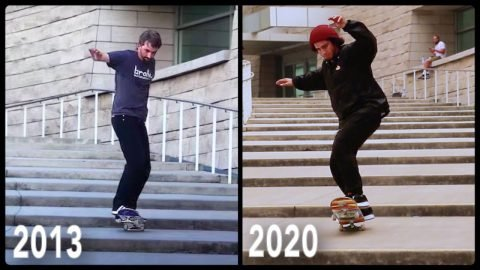 BEATING AARON KYRO'S MANUAL RECORD 7 YEARS LATER! | Braille Skateboarding