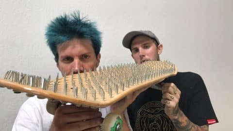 BED OF NAILS GAME OF SKATE | FETTY VS DOUG - Braille Skateboarding