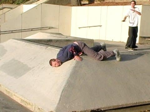 Behind The Fall! - Slippery Spinal Slide - DickJones