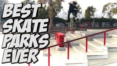 BEST SKATE PARKS EVER !!! - A DAY WITH NKA - - Nka Vids Skateboarding