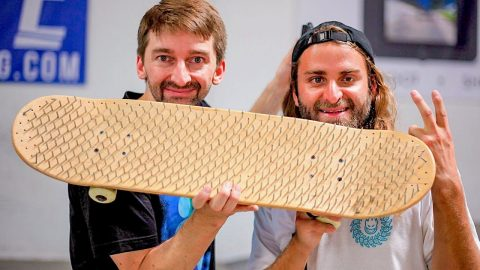 BLIND SKATER VS NAIL BOARD! | Braille Skateboarding