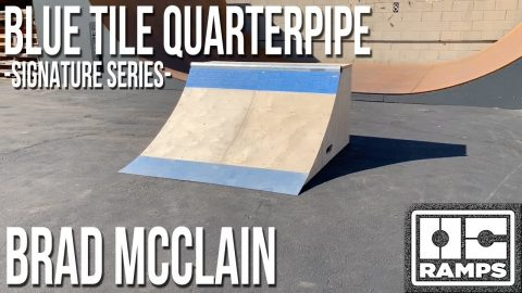 Blue Tile Quarterpipe - Brad McClain's Signature Series by OC Ramps | OC Ramps