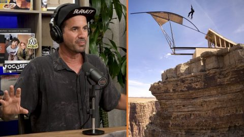 Bob Burnquist Base Jump's Into The Grand Canyon On A Skateboard!! | The Nine Club Highlights