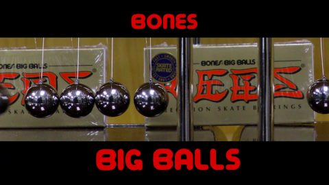 Bones Bearings BIG BALLS - Clip #9 Newton's cradle III | Bones Bearings