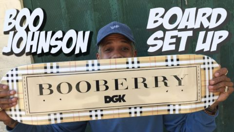 BOO JOHNSON BOARD SET UP AND INTERVIEW !!!