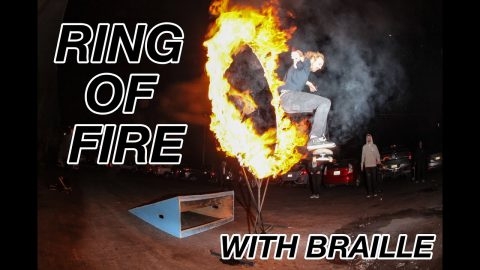 Braille House 2.0 - RING OF FIRE (DO NOT TRY THIS AT HOME) | A Happy Medium Skateboarding