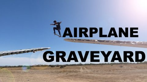 BRAILLE SKATES AZ AIRPLANE GRAVEYARD ✈️ _ Mogely & Bryan Arnett | A Happy Medium Skateboarding