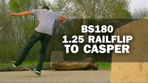 BS180 1.25 Railflip to Casper: Mike Osterman || ShortSided - Brett Novak