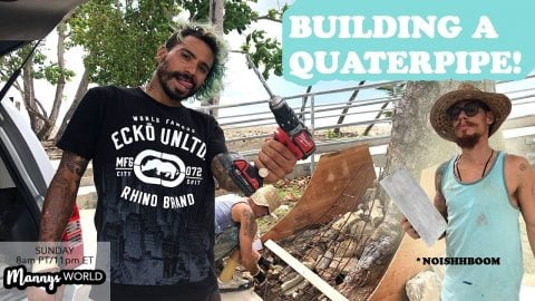 Building a Quaterpipe?!?!?! - MannysWorld