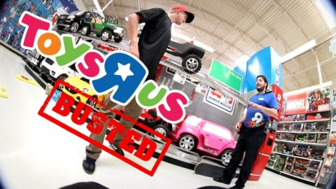 BUSTED FOR SKATING TOYS R US!! - Luis Mora