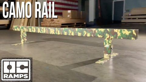 Camo Skateboard Rail by OC Ramps | OC Ramps