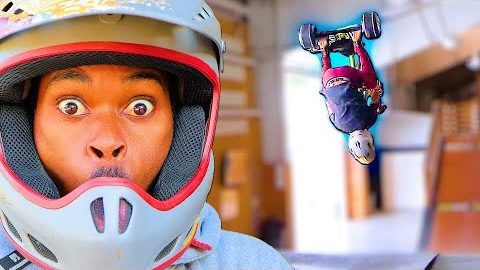 CAN A SKATEBOARDER BACKFLIP A DRIFT TRIKE?!? | Braille Skateboarding