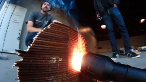 CAN THIS FLASHLIGHT BURN THROUGH A SKATEBOARD?