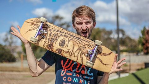 CAN WE BREAK THE BAMBOO SKATEBOARD? | YOU MAKE IT WE SKATE IT EP. | Braille Skateboarding