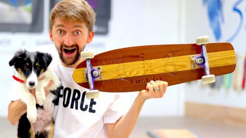 CAN WE BREAK THE CUSTOM MAHOGANY SKATEBOARD? | YOU MAKE IT WE DESTROY IT EP. 1 | Braille Skateboarding