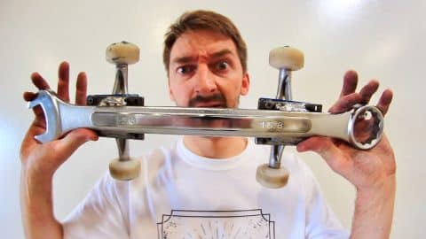 CAN YOU KICKFLIP THIS WRENCH SKATEBOARD?! - Braille Skateboarding
