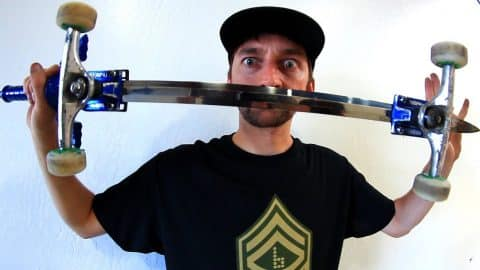 CAN YOU SKATE A ZELDA MASTERSWORD?! - Braille Skateboarding