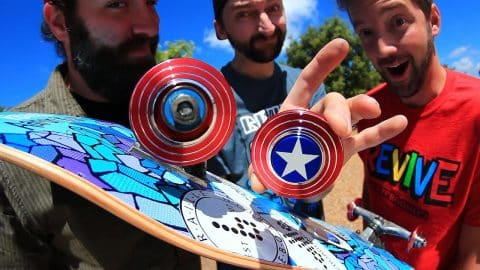 CAPTAIN AMERICA FIDGET SPINNER WHEELS! - Braille Skateboarding