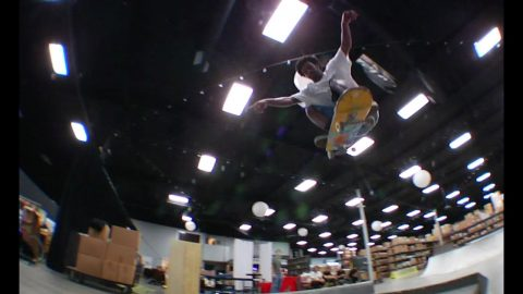 Carl Aikens and Friends Cruising the Crailtap Warehouse | TransWorld SKATEboarding