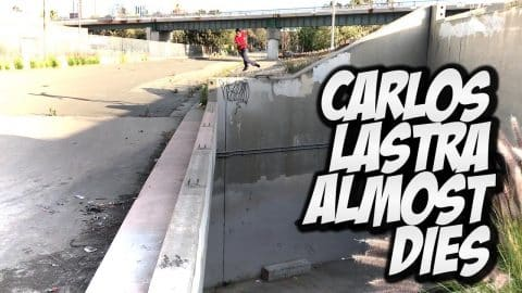 CARLOS LASTRA ALMOST DIES TWICE !!! - A DAY WITH NKA - Nka Vids Skateboarding