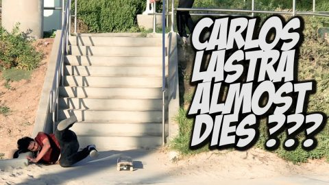 CARLOS LASTRA ALMOST KILLS HIMSELF ???   NKA VIDS | Nka Vids Skateboarding
