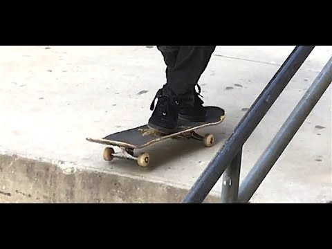CARLOS LASTRA - IMPOSSIBLE CROSS FOOTED OLLIE DOWN 3 BLOCK - CLIP OF THE DAY - Nka Vids Skateboarding
