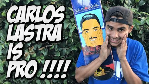 CARLOS LASTRA IS PRO !!! 3 BLOCK UNBOXING AND SKATE SESSION !!! - Nka Vids Skateboarding