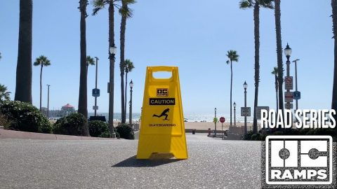 Caution Skateboarding Sign - Road Series by OC Ramps | OC Ramps