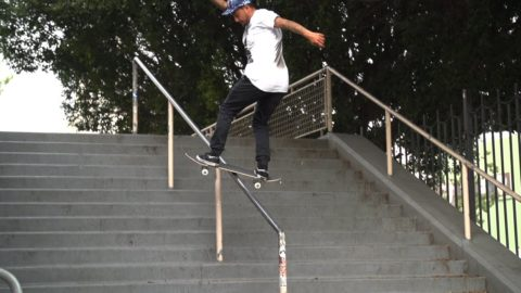 Chaz Ortiz Kickflip Fs Board Hollywood High 16 SLOW Motion - Skateintheday