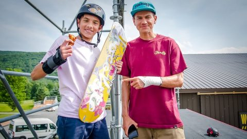 Chocolate Skateboards Giveaway at Woodward with Chico Brenes & Stevie Perez - Woodward Camp