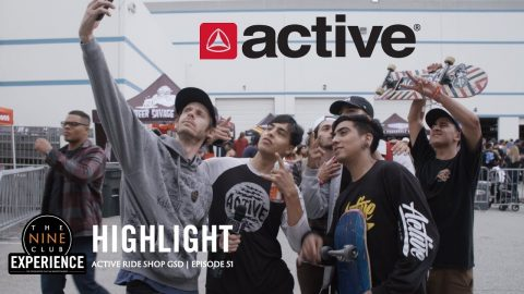 Chris Roberts gets Autographs and selfies - Active Ride Shop Go Skate Day | The Nine Club Highlights